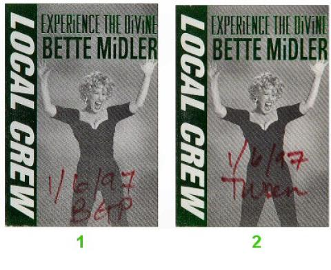Bette Midler Backstage Pass