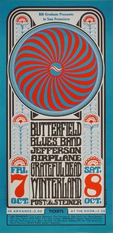 The Paul Butterfield Blues Band Handbill