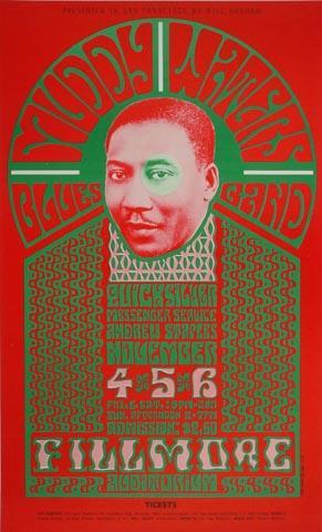 Muddy Waters Blues Band Handbill