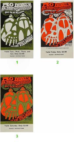 Bo Diddley Vintage Ticket