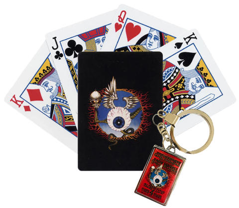 Flying Eyeball Playing Card/Keychain Set