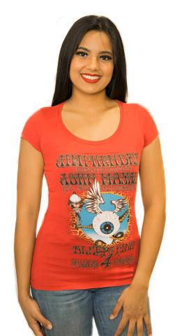 Jimi Hendrix Experience Women's Vintage Tour T-Shirt