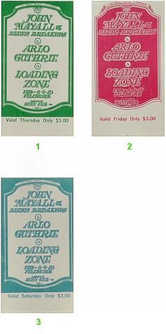 John Mayall & the Bluesbreakers Vintage Ticket