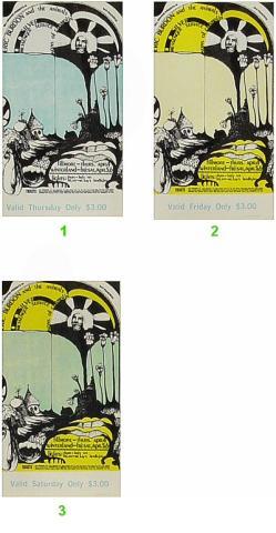 Eric Burdon & The Animals Vintage Ticket