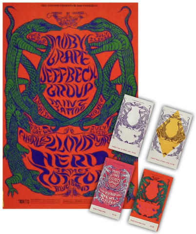 Moby Grape Poster/Ticket Set