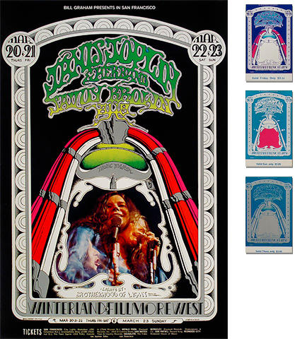 Janis Joplin Poster/Ticket Bundle