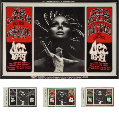 Joe Cocker & The Grease Band Poster/Ticket Set