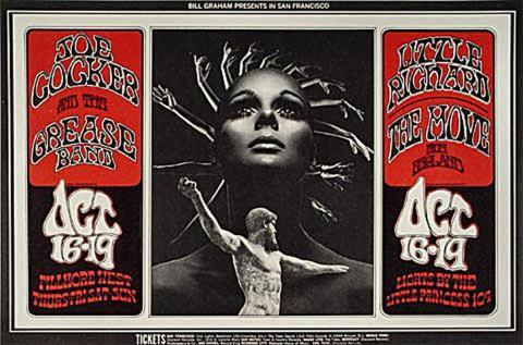 Joe Cocker & The Grease Band Handbill