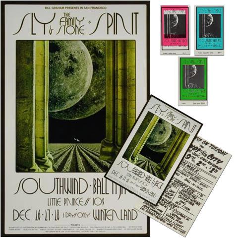 Sly & the Family Stone Poster/Handbill/Ticket Set