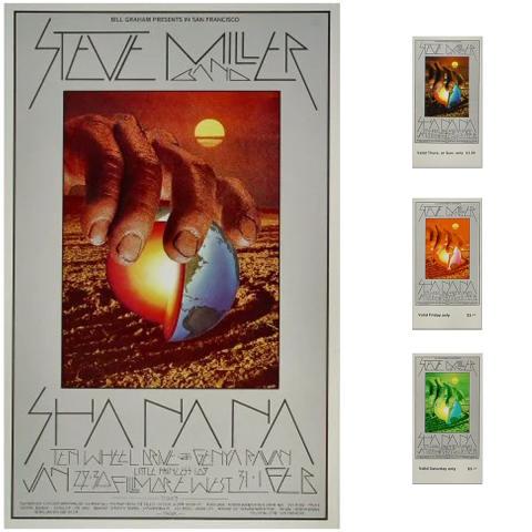 Steve Miller Band Poster/Ticket Set