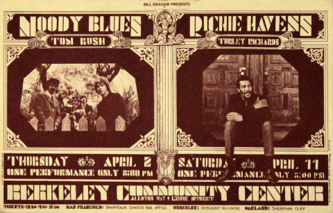 The Moody Blues Handbill