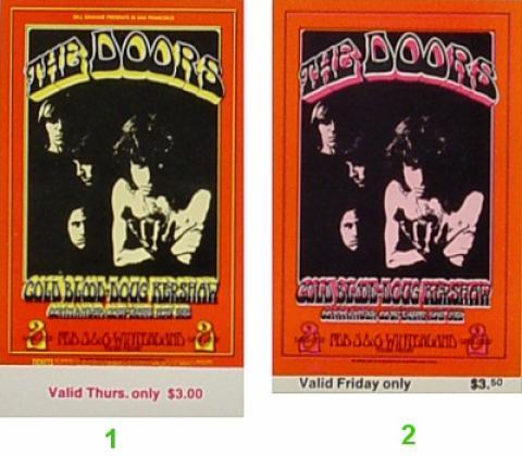The Doors Vintage Ticket