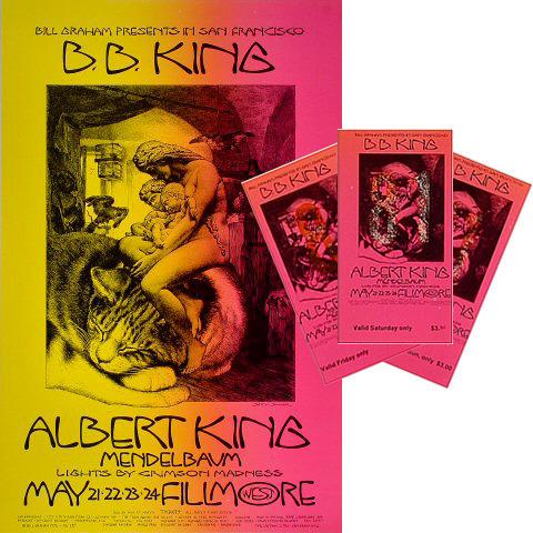 B.B. King Poster/Ticket Set