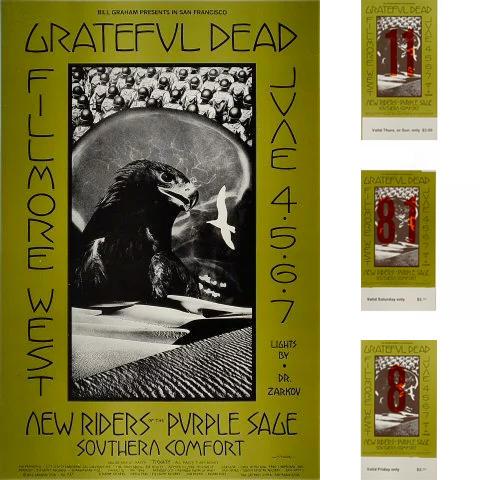 Grateful Dead Poster/Ticket Bundle