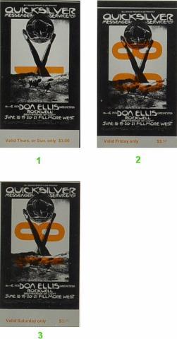 Quicksilver Messenger Service Vintage Ticket