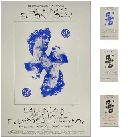 The Kinks Poster/Ticket Bundle