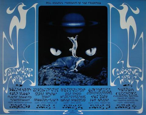 Closing of the Fillmore West Poster
