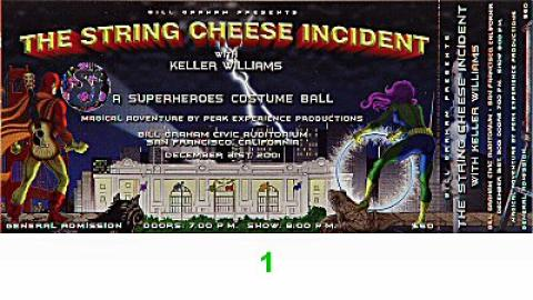 String Cheese Incident Vintage Ticket
