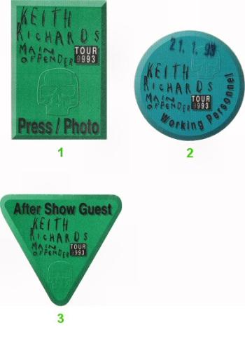 Keith Richards Backstage Pass