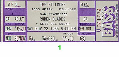 Ruben Blades y Son de Solar Vintage Ticket