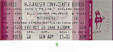 Motorhead Vintage Ticket