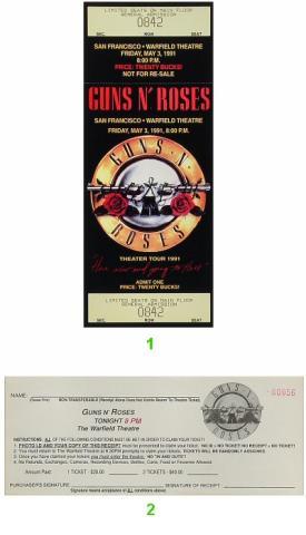 Guns N' Roses Vintage Ticket