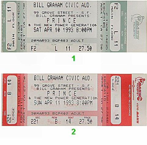 Prince Vintage Ticket