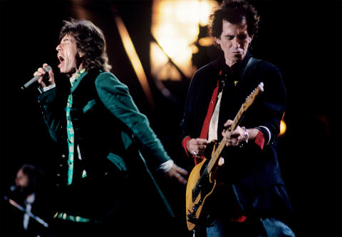Mick Jagger & Keith Richards Fine Art Print
