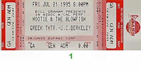 Hootie & the Blowfish Vintage Ticket