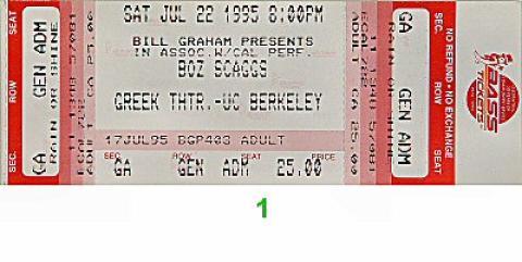 Boz Scaggs Vintage Ticket