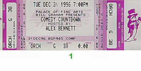 Dave Attell Vintage Ticket