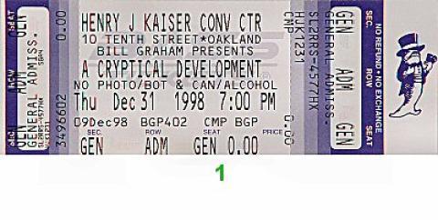 RatDog Vintage Ticket