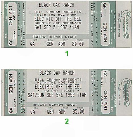 Country Joe McDonald Vintage Ticket