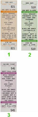 Leftover Salmon Vintage Ticket