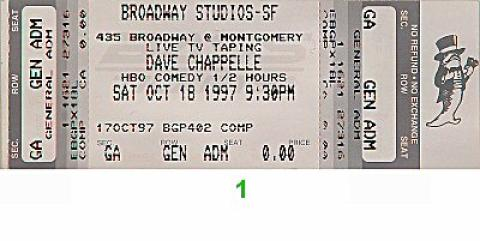 Dave Chappelle Vintage Ticket