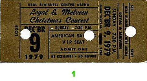 Loyal and Melveen Vintage Ticket