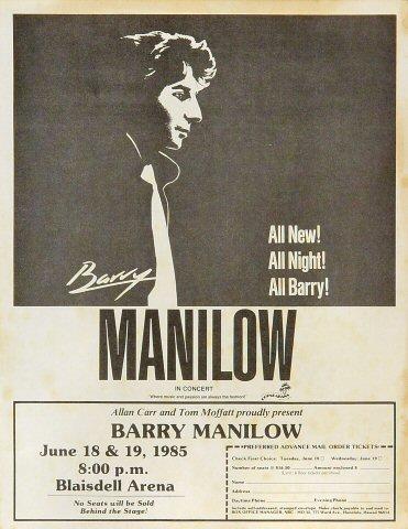 Barry Manilow Handbill