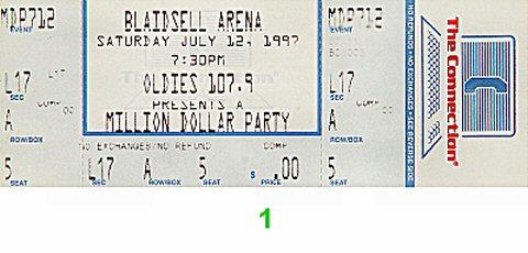 Million Dollar Party Vintage Ticket