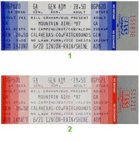 The Doobie Brothers Vintage Ticket