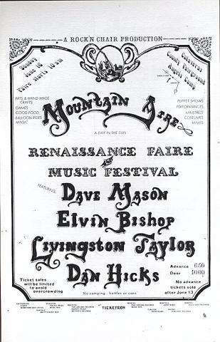 Dave Mason Handbill