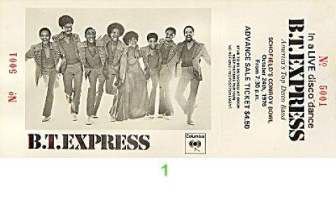 B.T. Express Vintage Ticket