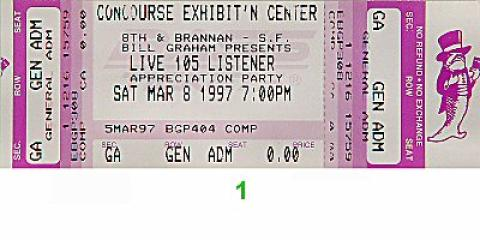 The Cardigans Vintage Ticket