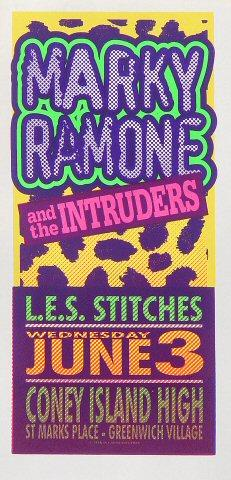 Marky Ramone and the Intruders Handbill
