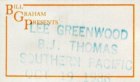 Lee Greenwood Backstage Pass