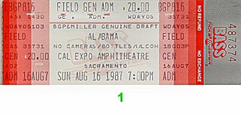 Alabama Vintage Ticket
