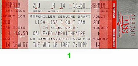 Lisa Lisa and the Cult Jam Vintage Ticket