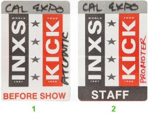 INXS Backstage Pass