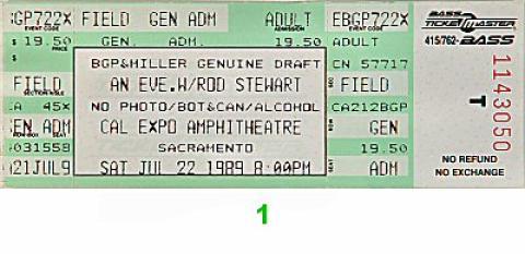 Rod Stewart Vintage Ticket