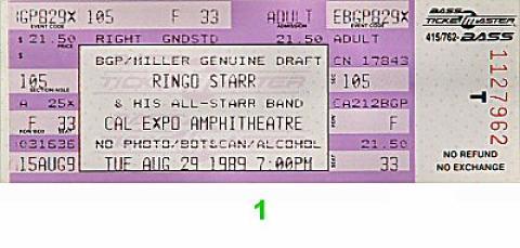 Ringo Starr Vintage Ticket