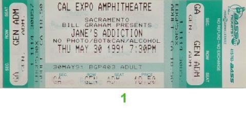 Jane's Addiction Vintage Ticket